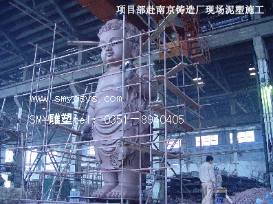 山西太原大型铸铜新万博最新版本下载,专业佛教泥塑
